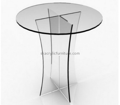 Factory wholesale acrylic home furniture clear acrylic round dining table coffee table AT-005