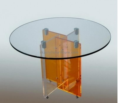 Hot selling acrylic modern furniture clear acrylic bedside table round coffee table AT-016