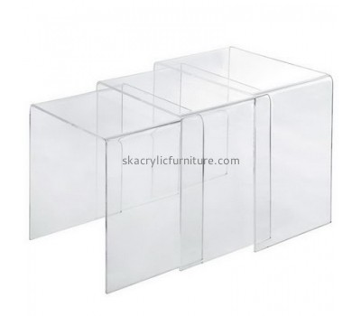 Wholesale acrylic luxury living room furniture plastic table coffee table modern AT-035