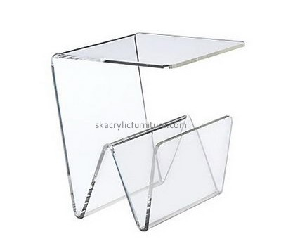 Wholesale acrylic luxury office furniture clear acrylic trunk table mirrored side table AT-043