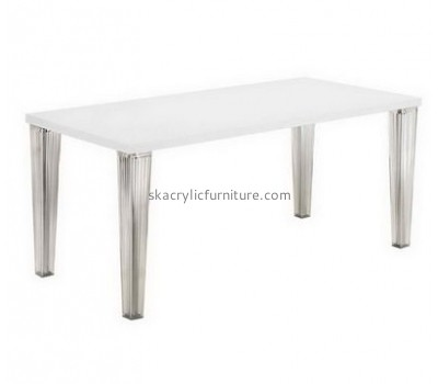 Wholesale clear acrylic table and chairs office desk side table restaurant table AT-054