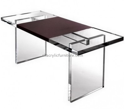 Wholesale acrylic plastic study table and chair retail store furniture plastic table AT-055