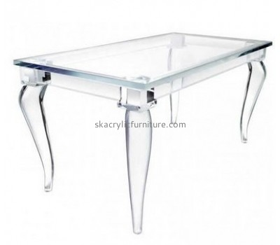 Hot sale acrylic side table dining room table plastic table chairs AT-065