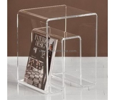 China acrylic furniture wholesale coffee table design transparent acrylic coffee table AT-072