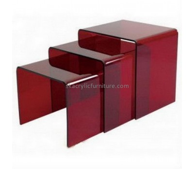 Factory customized acrylic office desk side table modern dining table fancy furniture AT-076