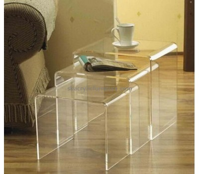 Custom design acrylic side table acrylic coffee table plastic table AT-081