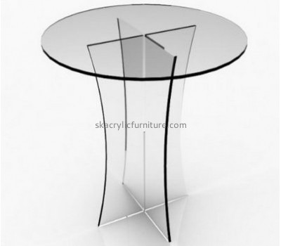 China acrylic furniture manufacturers supplying acrylic perspex side table round end tables AT-111