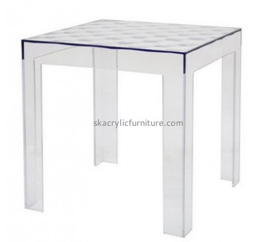 Custom acrylic perspex dining table lucite bedside table designer coffee tables AT-113