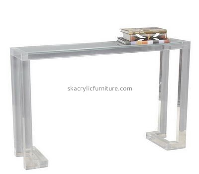 Factory custom lucite furniture clear table narrow end table AT-125