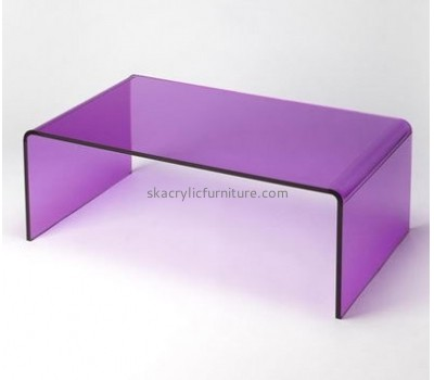 Customized acrylic designer furniture clear side table acrylic long coffee table AT-147