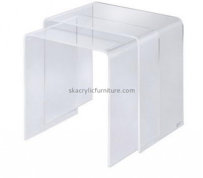 Factory direct sale clear side table acrylic lucite parsons table small side tables for living room AT-166