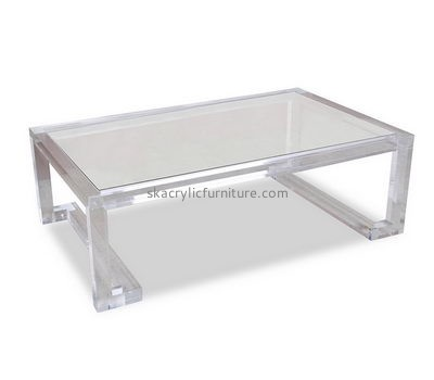 Custom clear acrylic sofa table small perspex table side tables living room AT-168