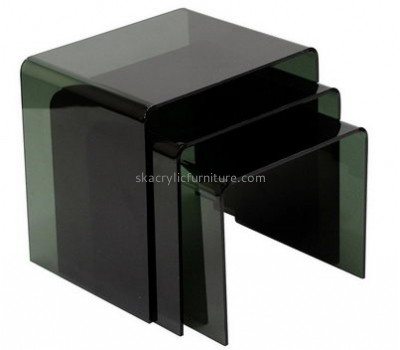 Custom design acrylic lucite vanity table clear acrylic desk table coffee tables for cheap AT-174
