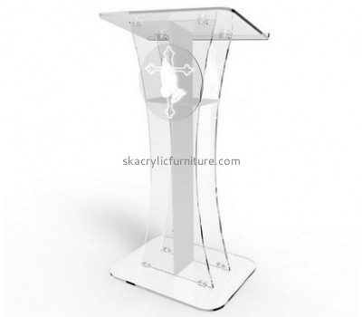 Custom acrylic lectern table standing lectern cheap pulpit furniture AP-055