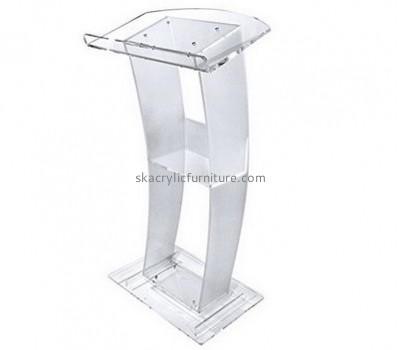 Factory custom lectern desk podium acrylic church pulpits AP-056