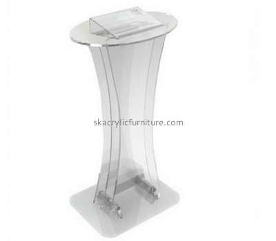 Custom acrylic contemporary lecterns modern podiums and lecterns pulpits for church for sale AP-071