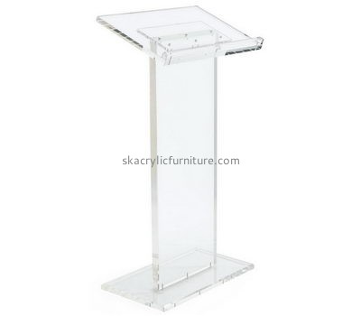 Custom school podium plexiglass pulpit acrylic podium for sale AP-078