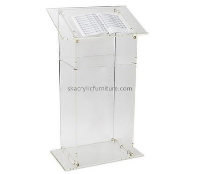 Customized acrylic church lectern clear pulpit  lecterns and podiums for sale AP-087