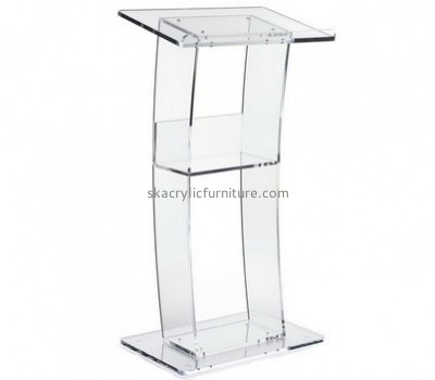 Custom design acrylic podium table presentation podium furniture for church AP-106