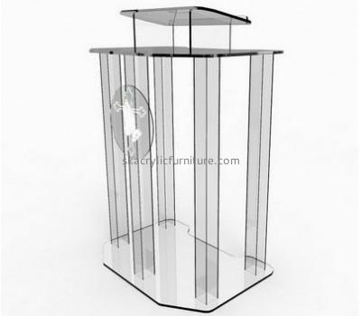 Custom acrylic contemporary church podiums speaking podium antique church furniture AP-109