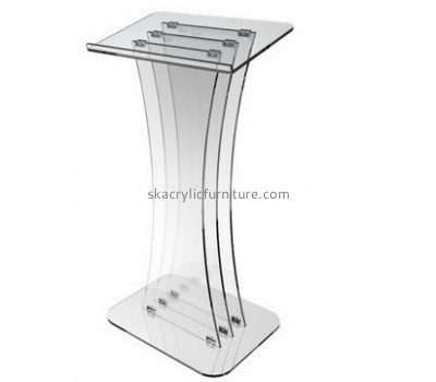 Customized lectern design clear acrylic lectern cheap church podiums AP-122