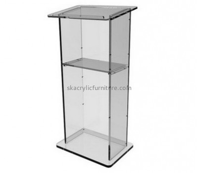 Custom acrylic cheap pulpits standing lectern pulpit acrylic AP-131