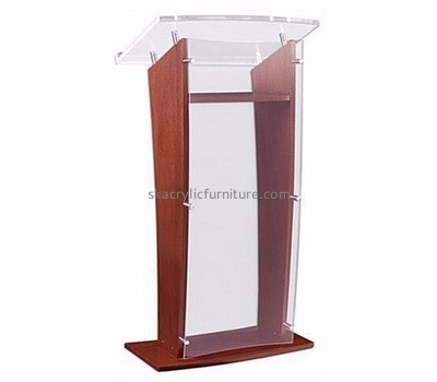 Custom acrylic pulpit podium designs restaurant podium church pulpits for sale AP-145