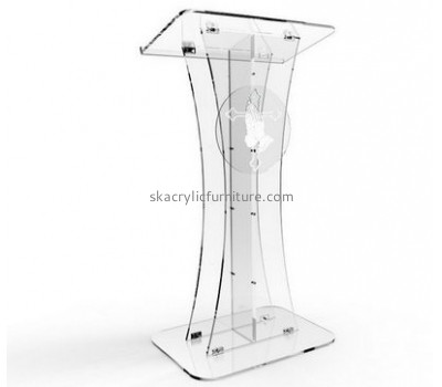 China lectern manufacturers custom acrylic perspex lecterns modern pulpit AP-151