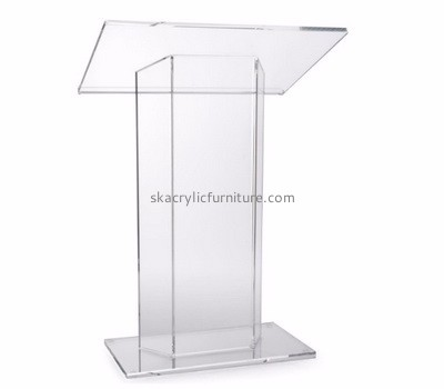 Custom acrylic clear podium cheap church pulpit church podium AP-184