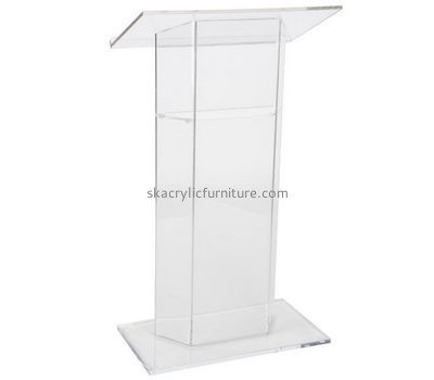 Customized acrylic modern lectern speaker podium acrylic pulpits for sale AP-189
