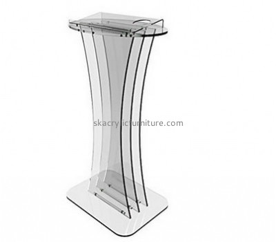 Custom acrylic pulpit furniture plexiglass pulpit podiums and lecterns for sale AP-192