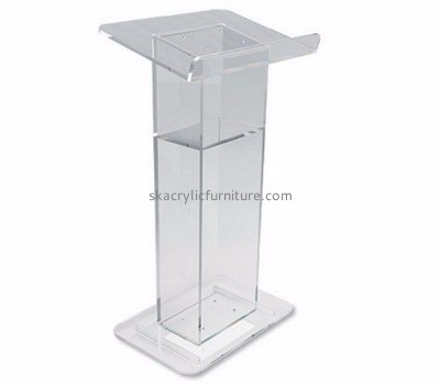 Custom acrylic contemporary church pulpits lecterns podium for schools AP-219