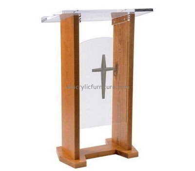 Custom acrylic lectern desk event podium sale AP-239
