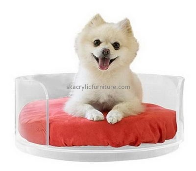 Custom acrylic lucite  luxury large dog beds furniture AB-038