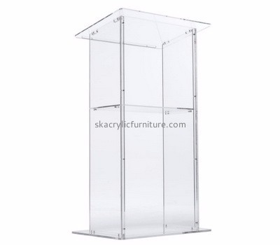Quality furniture manufacturers custom acrylic desktop lecterns church podiums AP-292