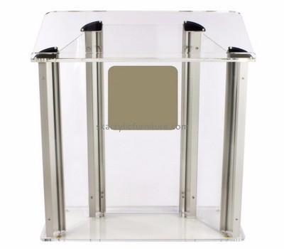 Custom acrylic cheap modern podiums and lecterns furniture pulpit for sale AP-294