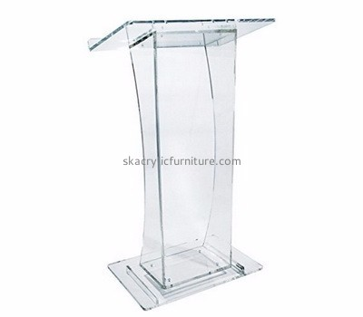Fine furniture manufacturers custom acrylic pulpit church podiums for sale AP-298