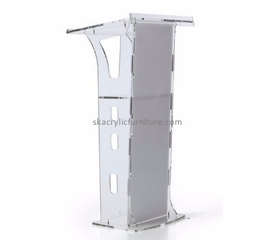 Furniture factory custom acrylic podium church lecturn AP-303
