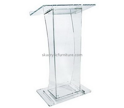 Fine furniture company custom acrylic lucite plexiglass lectern furniture AP-325