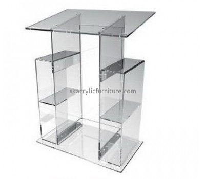 Acrylic furniture manufacturers customize plastic church pulpits and lecterns furniture AP-388