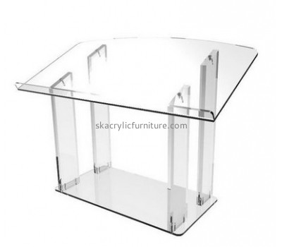 Acrylic furniture manufacturers customize contemporary church furniture acrylic lecterns for sale AP-390