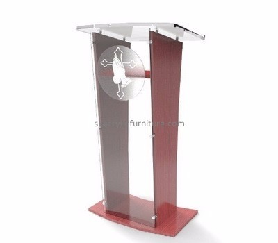 Acrylic furniture manufacturers customize perspex church podiums and pulpits furniture AP-402