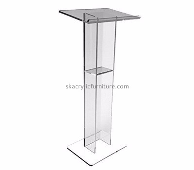 Acrylic furniture manufacturers customize acrylic lucite modern podiums and lecterns furniture AP-409
