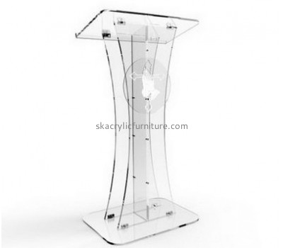 Acrylic furniture manufacturers customize luxury clear acrylic lectern furniture AP-413