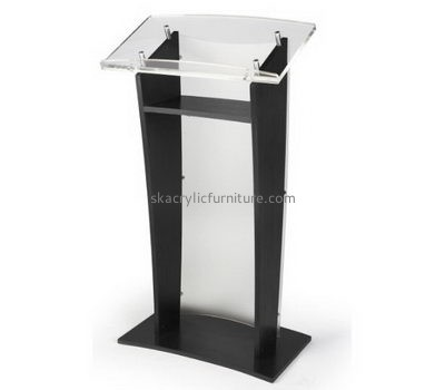 Quality furniture company customize modern acrylic black podium lectern furniture AP-427