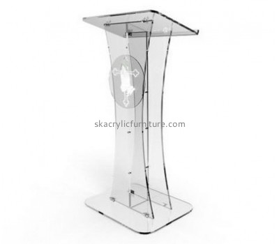Perspex furniture suppliers customize acrylic plexiglass pulpit podiums furniture AP-498