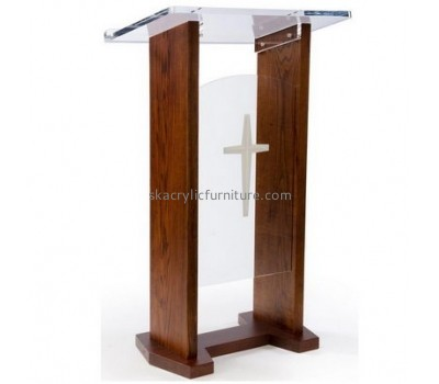 Best furniture manufacturers customized lucite acrylic podium furniture AP-524