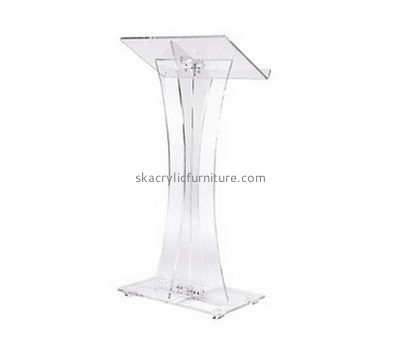 Perspex furniture suppliers customized clear standing lectern furniture AP-612