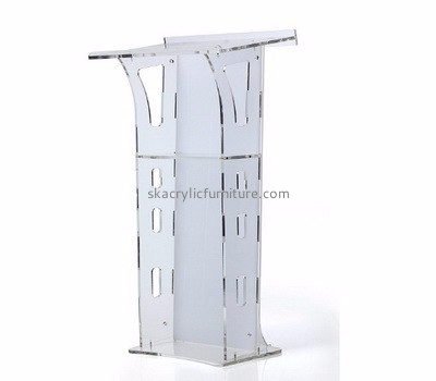 Furniture factory custom made lucite plexiglass podium furniture AP-614
