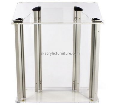 Perspex furniture suppliers customized clear plexiglass lectern furniture AP-646